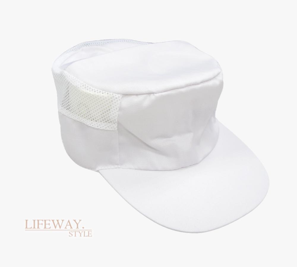食品衛生帽,衛生網帽,食品加工帽,食品帽,白色衛生帽,廚師帽,打菜帽,後網帽,髮網,防塵帽,食安帽,台灣創意家服飾,創意家團體服