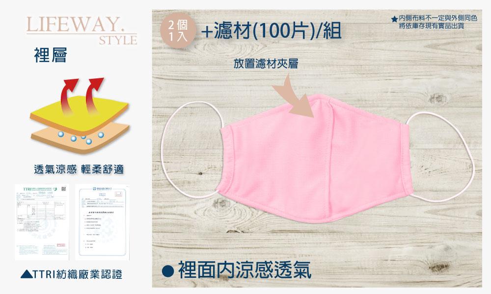 濾材替換式布口罩