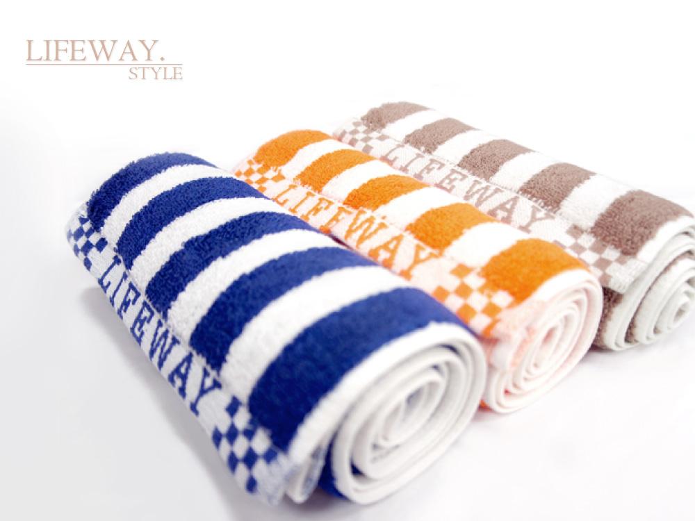sports towels, head towels, 條紋毛巾,運動毛巾,旅行毛巾,擦頭毛巾,吸汗毛巾,台灣創意家服飾,MIT台灣工廠製造