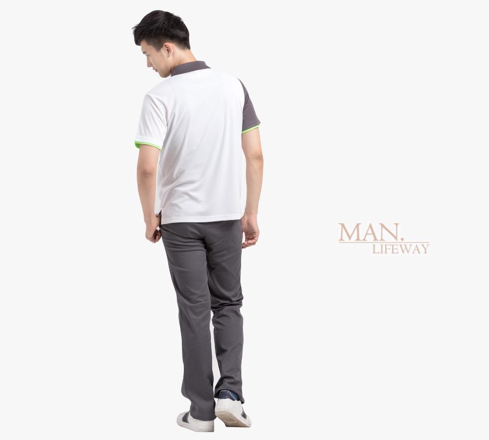 lifeway吸引力快乾斜片剪接造型款polo衫