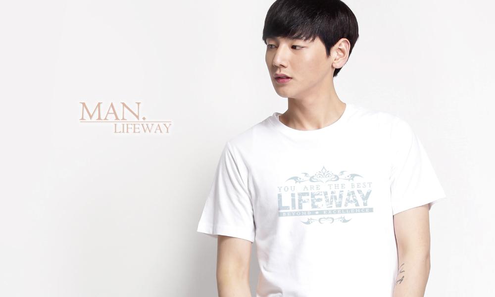 棉T,Lifeway,純棉,圓領,短袖,You Are The Best,圖T,男