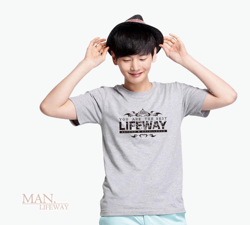 Lifeway,純棉,圓領,短袖,You Are The Best,圖T,男,棉T