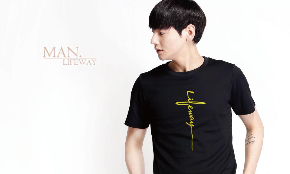 Lifeway,短袖,棉T,純棉,圓領,lifeway十字,圖T,男