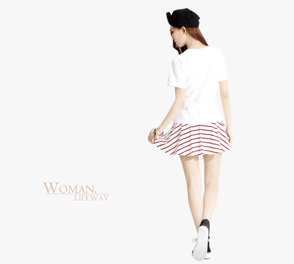 lifeway條紋短褲裙,短褲裙,條紋短褲裙,條紋裙