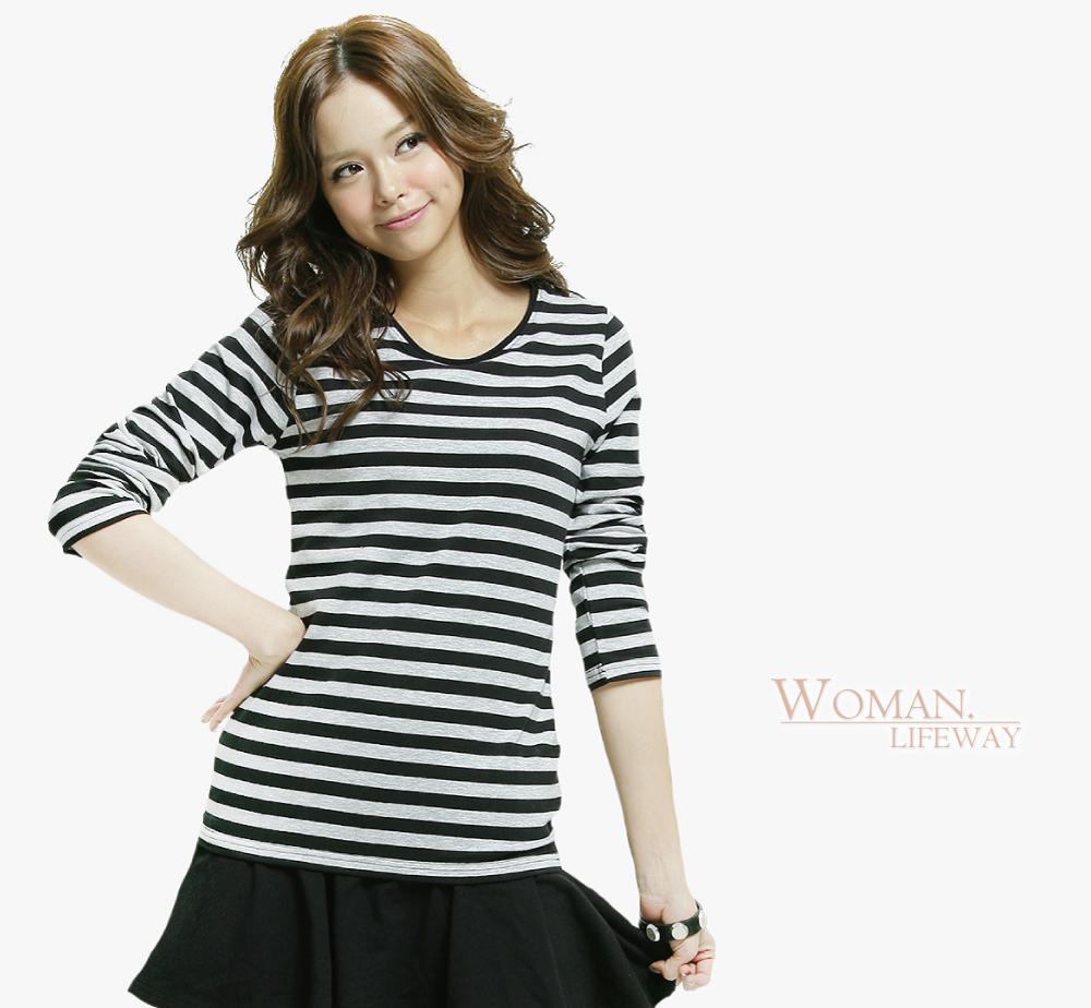 lifeway條紋T,條紋衣,條紋T,透氣排汗T,彈性排汗衣,條紋衫