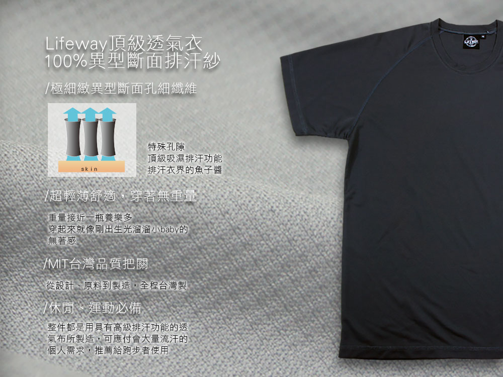 lifeway排汗T,排汗衣,排汗衫,吸濕排汗衣,吸濕排汗T,UV 運動,平價,機能,時尚,品牌